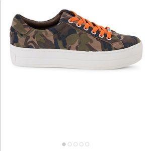 J/Slides Hippie Neon Camo Leather Sneakers